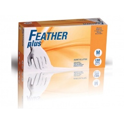Guanti lattice con polvere FEATHER Plus (conf. 100paia)