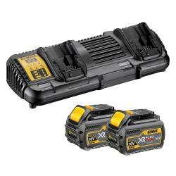 STARTER KIT FLEX VOLT 2 batterie 54V 6Ah + caricabatteria