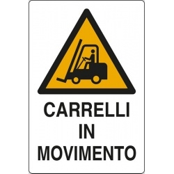 "CARTELLO ALLUMINIO  "" CARRELLI IN MOVIMENTO "" cm 50x35"