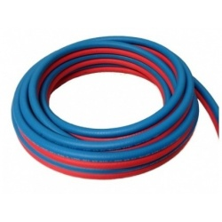 TUBO BINATO GOMMA OSSIGENO/ACETILENE 8X15 mm TWIN HOSE